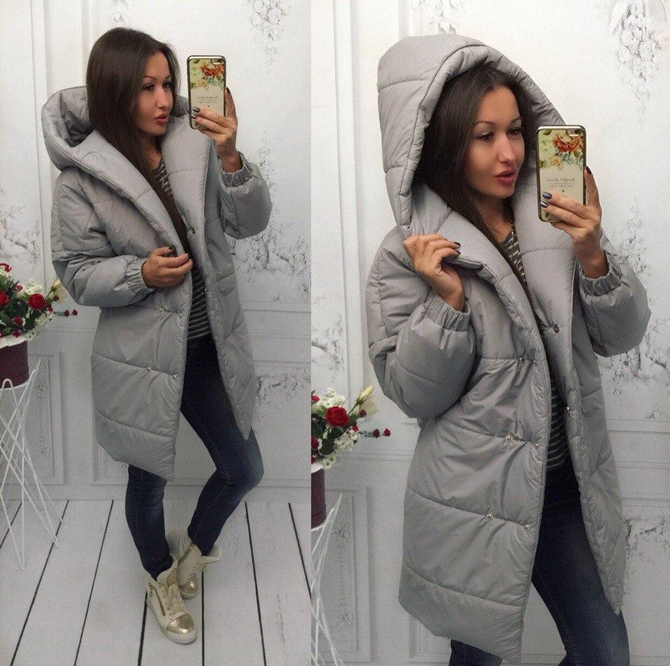 b6b41362cc3 Зимняя очень теплая куртка пальто - дутик Зефирка на синтепоне -