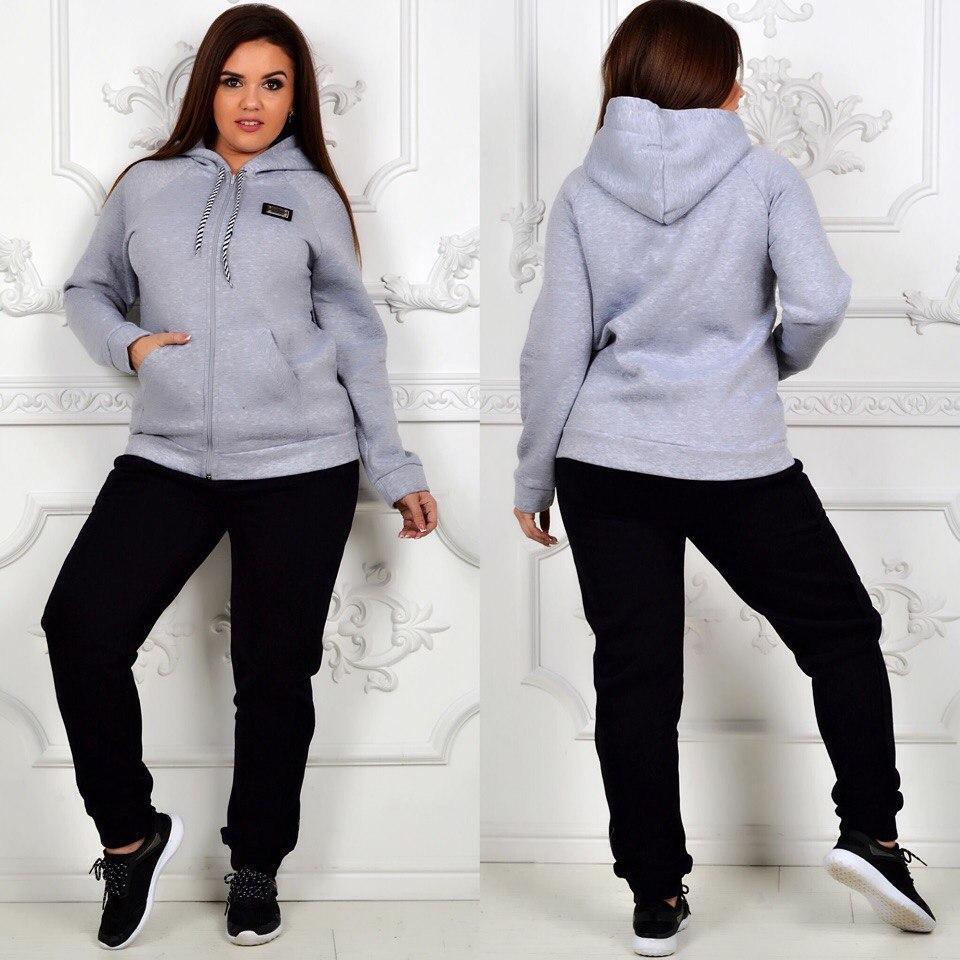 214335270d10 Женский теплый спортивный костюм на флисе больших размеров  продажа ...