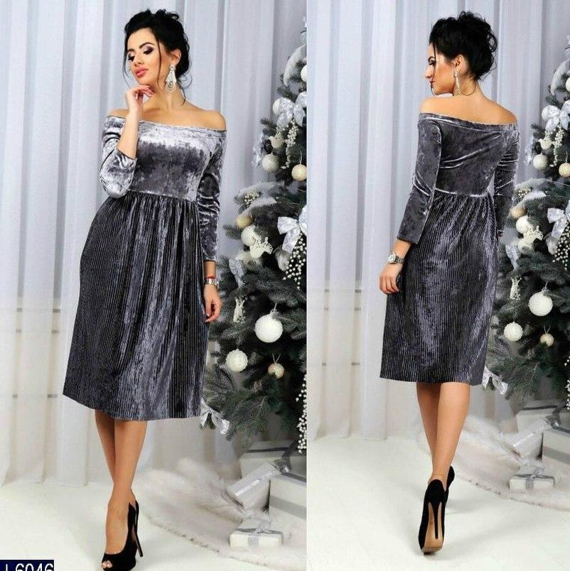 Красивое Нарядное Платье Бархатное Плиссе Ниже Колена — в Категории ... 63ccecceed0a7