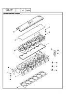 02 -17 КРИШКА ГОЛОВКИ ЦИЛІНДРІВ - головки цилиндров – крышка трактора NEW HOLLAND T8010, T8020, T8030, T8040, T8050, TG215, TG245, TG275, TG305 - всі