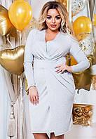 Вечернее нарядное женское  платье с люрексом больших размеров до 58-го размера