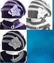 Комплект зимний: шапка с шарфом-хомутиком для девочки, фото 3