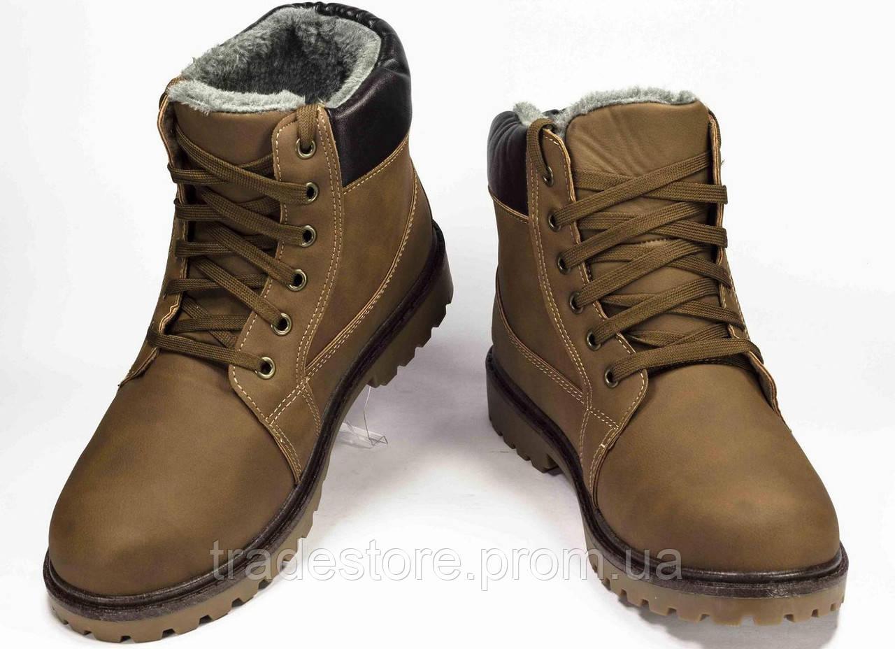 Мужские зимние ботинки Dual коричневый  в cтиле Timberland