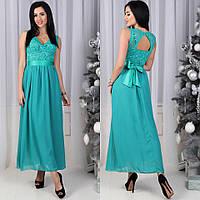 Вечернее шикарное длинное платье в пол гипюр + шифон