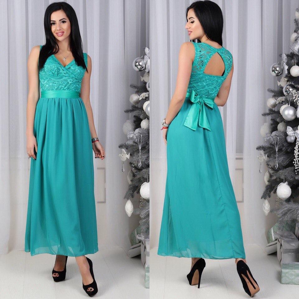 39ecc8b12f63 Вечернее шикарное длинное платье в пол гипюр + шифон   продажа, цена ...