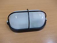 Светильник  НПП 1408 чёрный/овал решетка крупная 60Вт
