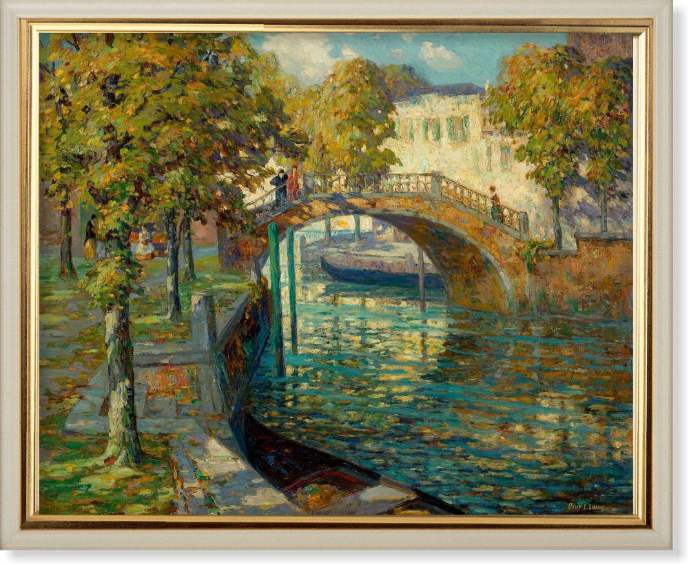 Репродукция  картины Осипа Линде «На мосту» 45 х 55 см 1903г.