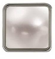 """Украшение """"Квадратная жемчужина"""" 12 мм, цв. никель, 11237, фото 1"""