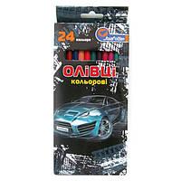 """1051AB-18 Карандаши пластик. """"Car"""" 18 цв., в картоне, европ. J. Otten"""