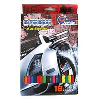"""1051AA-18 Карандаши пластик. """"Racing car"""" 18 цв., в картоне, европ. J. Otten"""