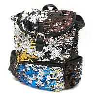 """IMG_2915 (IMG-5611) Рюкзак с пайетками """"Fashion"""" 30*27*14см"""