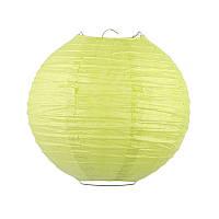 Фонарик бумажный зеленый 20 см.