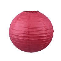Фонарик бумажный красный 20 см.