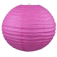Фонарик бумажный розовый 30 см.