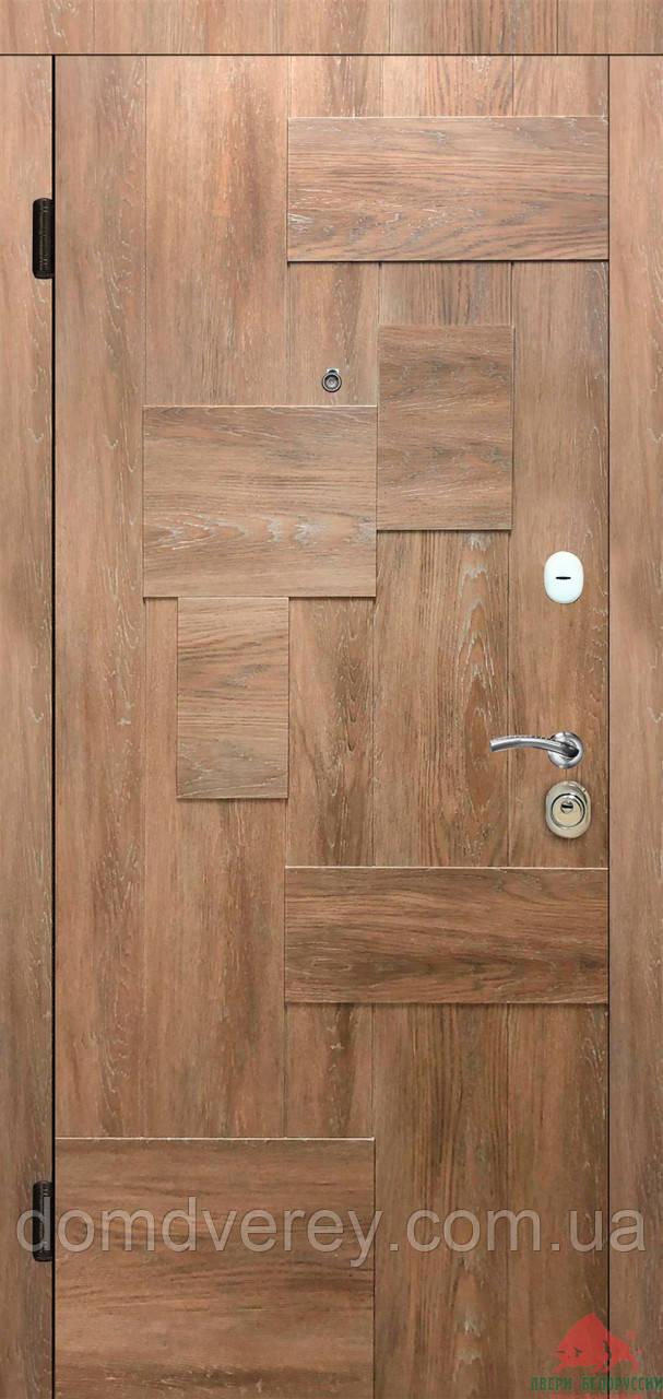 Двери входные металлические Тетрис дуб янтарный Двери Белоруссии