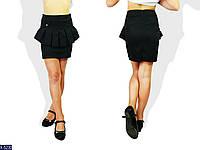 Детская школьная юбка из ткани мемори, черного цвета