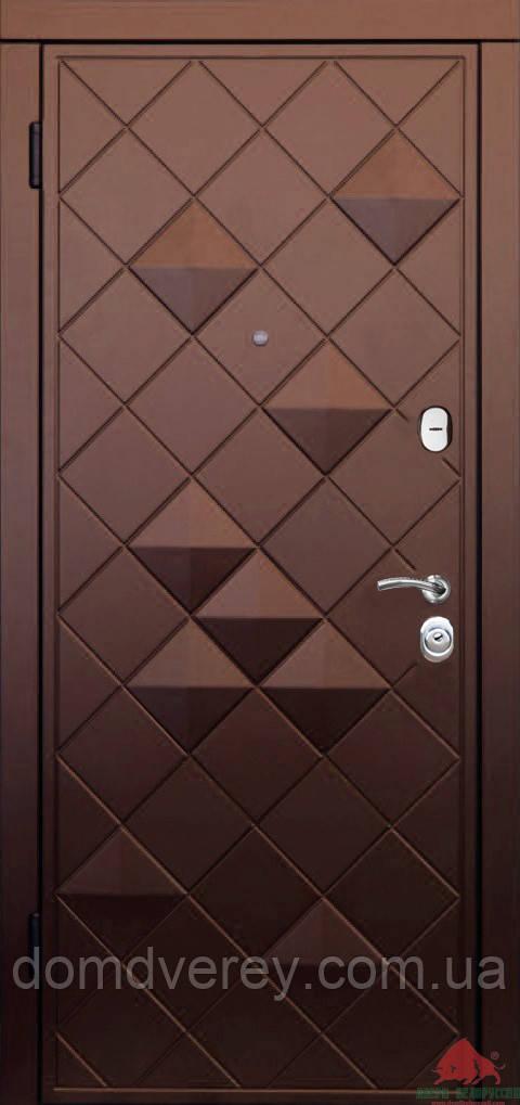 Двери входные металлические Ромб-В софттач винный Двери Белоруссии