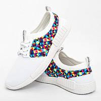 Женские кроссовки, слипоны  из текстиля, белые. Размеры 36, 37, 38, 39. Gipanis 2010.