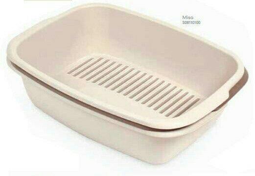Туалет-сито для кошек MISO, 54*38*16 см,бежевый(Sand),коричневый(BROWN)