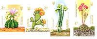 Почтовые марки «Гимнокалициум анизиции»,  «Опунция микродазис», «Пилозоцереус Палмера»,  «Граптопеталум белум», фото 1