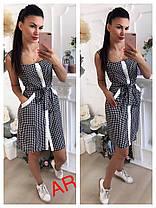 Платье сарафан из креп-шифон с принтом, фото 2