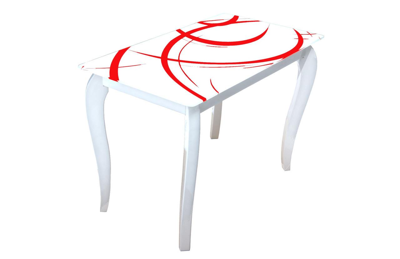 Стеклянный стол Император Радуга (1100*640*760 мм.)
