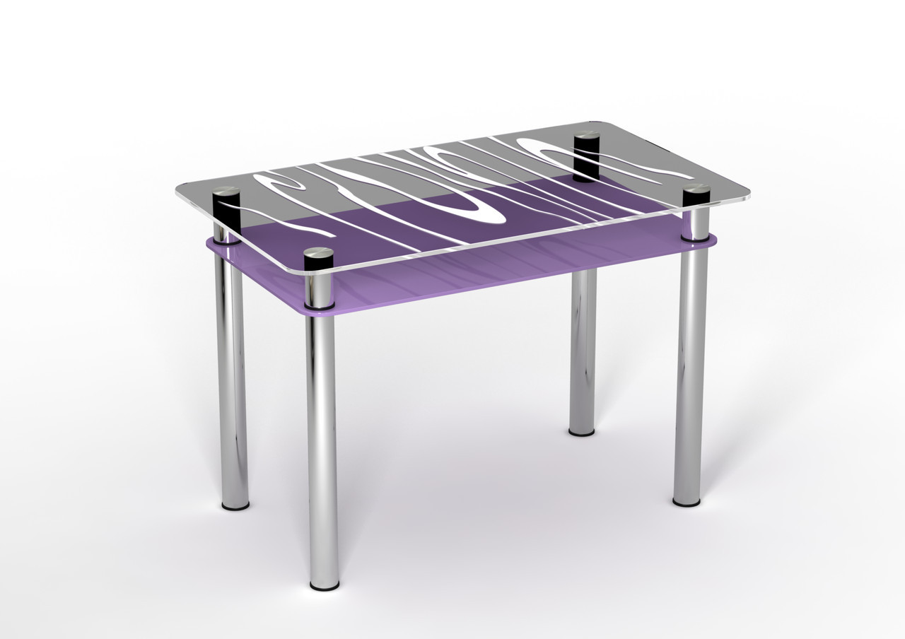 Стеклянный стол Сиреневый бриз (900*650*750 мм.)