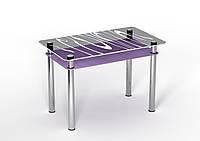 Стеклянный стол Сиреневый бриз (900*650*750 мм.), фото 1