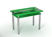 Скляний стіл Троянда обкладинка (900*650*750 мм.), фото 1