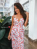 Платье с принтомзавышенная талия с поясом на бретельках, фото 4