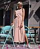 Платье из софта в пол с поясом высокая талия, фото 3