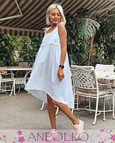 Платье сарафан свободное на бретелях сзади длиннее, фото 3