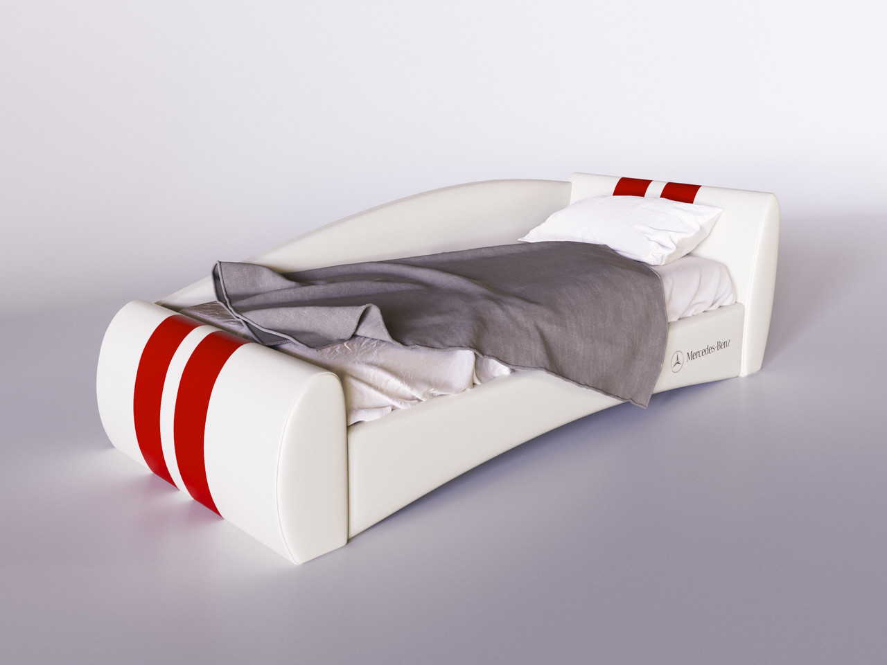 """Кровать """"Формула"""" белая, производитель """"Sentenzo"""""""