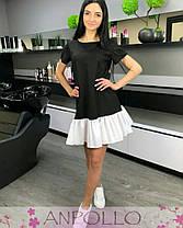 Платье летнее черное с белым воланом софт, фото 3