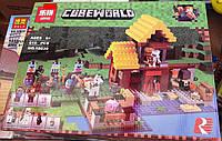 Конструктор Lepin 18039 Майнкрафт Minecraft Фермерский коттедж 615 деталей, фото 1