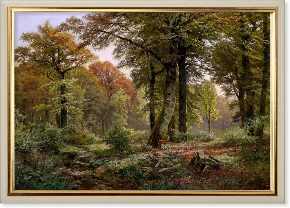 Репродукция картины Генриха Бохмера «Лесная поляна с косулей» 90 х 130 см 1922 г.