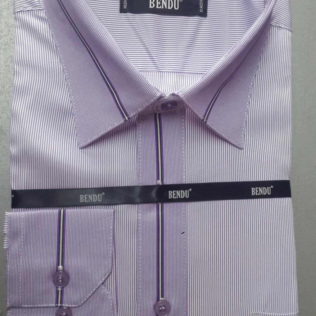 bfa8795aaca Сиреневая мужская рубашка BENDU (размеры 43.46)  продажа