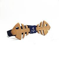 Деревянный галстук-бабочка №11