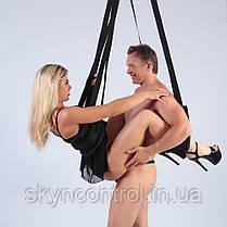Hot dreams Качели любви для пар SM Love Swing For The Blanket - комплект для полных, эластичный до 150кг, фото 3