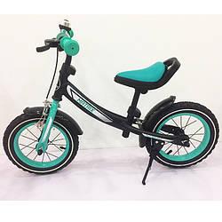 Велобіг від, Беговел BALANCE TILLY 12 Matrix T-21259 Turquoise, Дитячий велосипед безпедальный