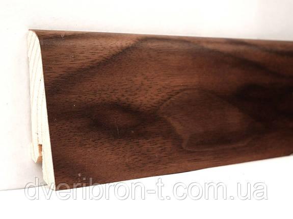Плинтус Ключук Орех американский 18*60*2400 мм профиль евро, фото 2