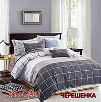 Полуторный набор постельного белья 150*220 из Сатина №392AB KRISPOL™