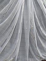 Тюль B-390 с серебристой полоской , фото 1