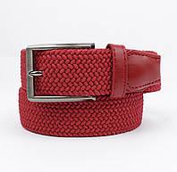 Плетеный ремень резинка Alon 4900-109 красный, ширина 35 мм, фото 1