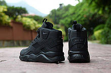 14e51b4bdd1736 Мужские кроссовки Nike Air Huarache Winter All Black (Топ реплика ААА+),  фото