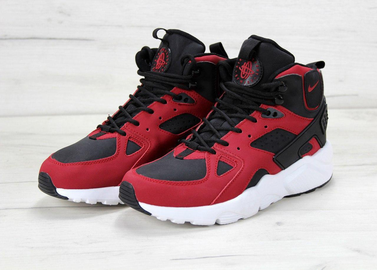 81b3395c6bd7b1 Мужские кроссовки Nike Air Huarache Winter Black\Red (Топ реплика ААА+)
