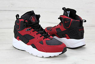 a6e19a06c91e2e Мужские кроссовки Nike Air Huarache Winter Black\Red (Топ реплика ААА+),
