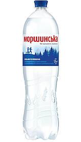 Минеральная вода Моршинская сильногазированная 1,5л