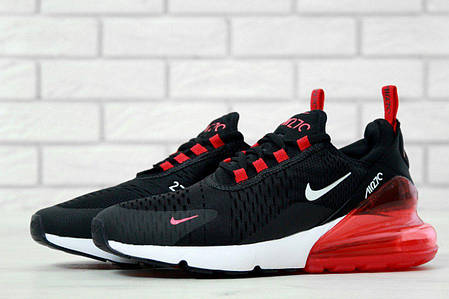 aaab7cab Мужские кроссовки Nike Air Max 270 Black/White/Red (Топ реплика ААА ...