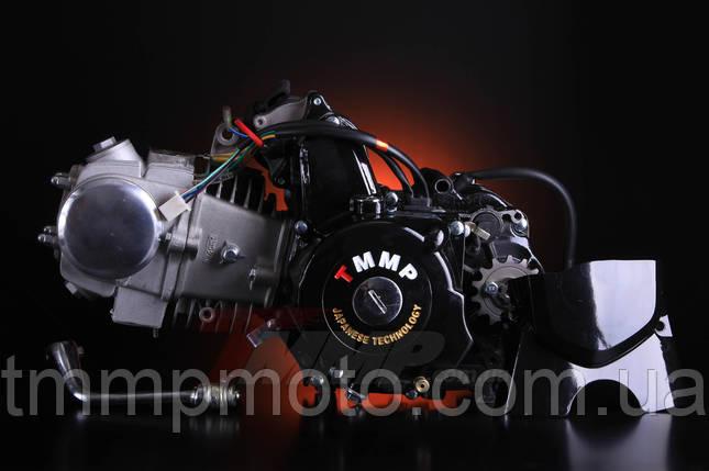 Двигатель Дельта/Альфа-125 сс Racing алюминиевый цилиндр полуавтомат  чёрный NEW, фото 2